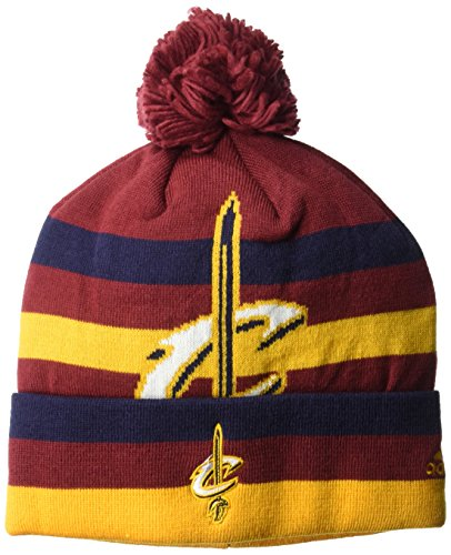 fan products of NBA Cleveland Cavaliers Men's Standout Cuffed Knit Hat with Pom, Burgundy, One Size