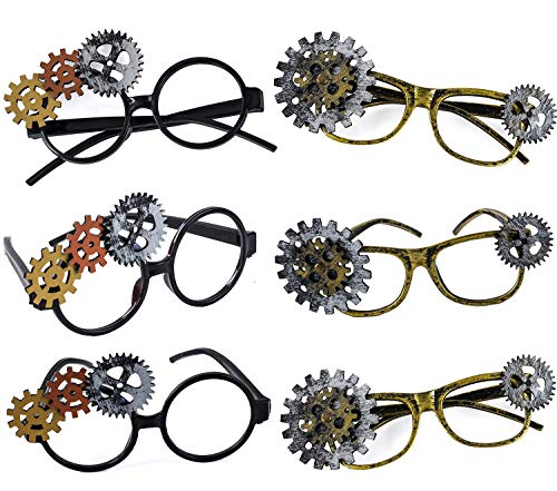 Tigerdoe Steampunk Glasses- Vintage Steampunk Accessories -Steampunk Party Favors - Antique Party Supplies - 6 pc