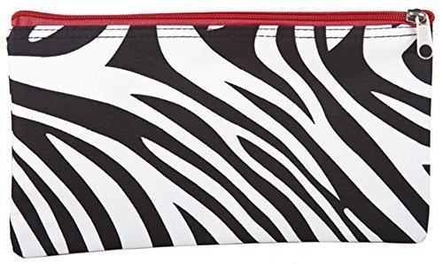 World-Traveler-Red-Zebra-Makeup-Brush-Bag-10-inch-by-Private-Label