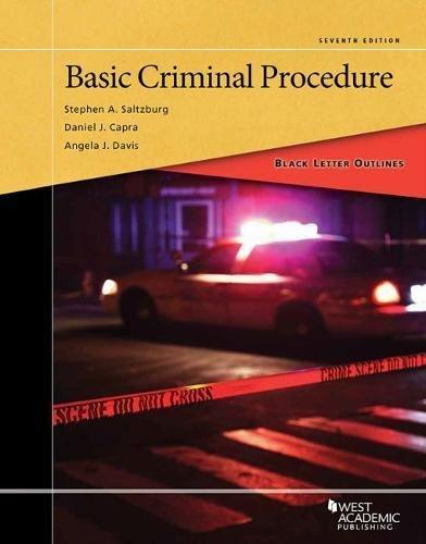 Books : Black Letter Outline on Basic Criminal Procedure (Black Letter Outlines)