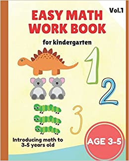 Easy Math Workbooks for Kindergarten: Kindergarten Workbook ...