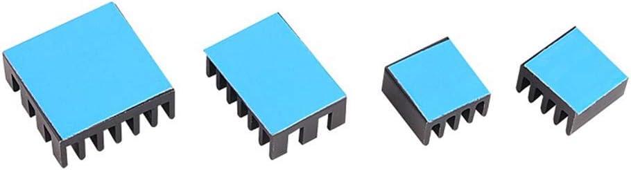 Helonge Raspberry Pi 4 B Heatsink 20PCS Raspberry Pi Aluminum Heatsinks with Thermal Conductive Adhesive Tape for Raspberry Pi 4 Model B
