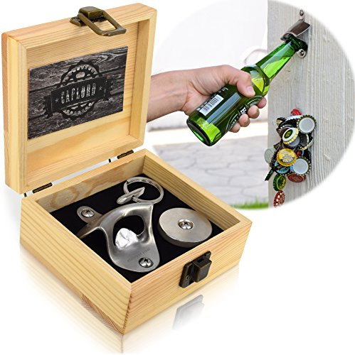 Mounted Bottle Opener Magnet Catcher