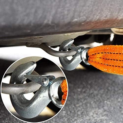 Lidahaotin 2 Anti Slipping Crochets Heavy Duty Voiture de remorquage C/âble de 3 tonnes 6 tonnes durgence remorque Corde V/éhicule Sangle en Nylon 4meters