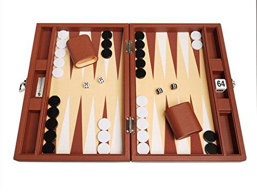 Silverman Desert Brown Board Backgammon Set, - Desert Premium