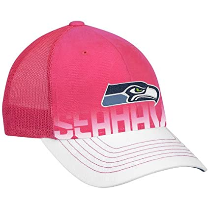 e018b3ed7 Amazon.com : Seattle Seahawks Women's Pink Breast Cancer Awareness  Structured Adjustable Snapback Mesh Back Hat : Sports Fan Baseball Caps :  Sports & ...