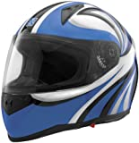 Sparx Tracker Stiletto Helmet, Distinct Name: Stiletto Blue, Primary Color: Blue, Helmet Type: Full-face Helmets, Helmet Category: Street, Size: Md, Gender: Mens/Unisex 843732