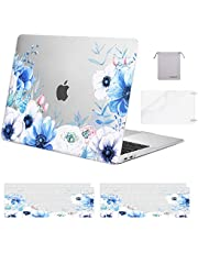 "MOSISO MacBook Air 13"" Case 2018-2020 A2337 M1 A2179 A1932, Plastic Myosotis Hard Shell & Keyboard Cover & Screen Protector & Opbergtas Alleen Compatibel met MacBook Air 13"" Retina, Transparant"