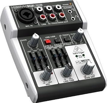 Behringer XENYX 302 USB/mesa de mezclas mesa de mezclas para ...