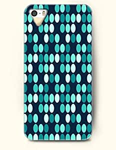 iPhone 5/5S Case, OOFIT Phone Cover Series for Apple iPhone 5 5S Case (DOESN'T FIT iPhone 5C)-- Teal Turquoise And White Regularly Shaped Dots -- Polka Dot Series