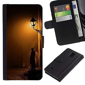 For Samsung Galaxy Note 4 IV Case , Cobblestone Yellow Romantic - la tarjeta de Crédito Slots PU Funda de cuero Monedero caso cubierta de piel