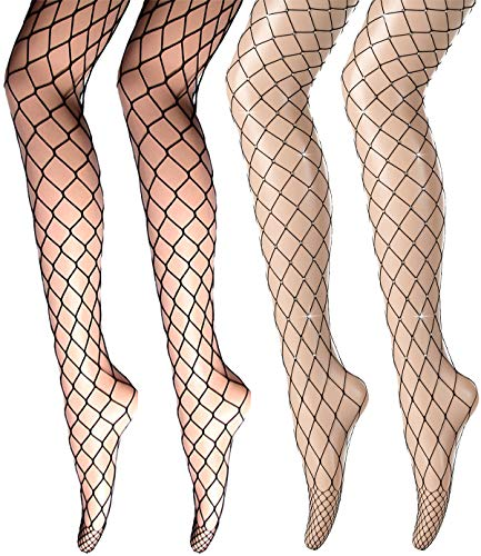 DORALLURE Fishnet Stockings Multipack High Waist Tights Nylon Net Pantyhose