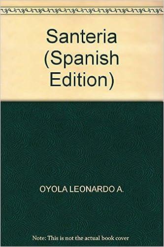 Santeria (Spanish Edition): OYOLA LEONARDO A.: 9789872426125: Amazon.com: Books