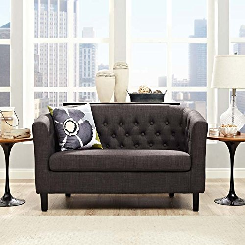 Modway EEI-2614-BRN Prospect Fabric Brown, Loveseat, Brown Fabric