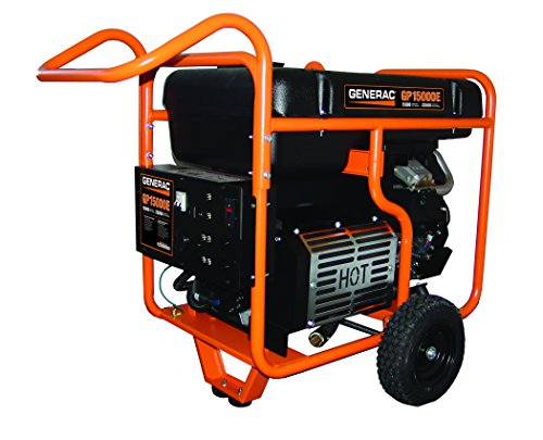 Generator Guardian Automatic - Generac 5734 GP15000E 15000 Running Watts/22500 Starting Watts Electric Start Gas Powered Portable Generator