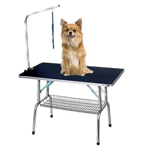 FXQIN Mesa De Higiene para Perros, Plegable, Mascotas Mesa De ...