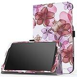 MoKo LG G Pad F 8.0 / G Pad II 8.0 Case, Slim Folding Cover for [4G LTE AT&T Model V495 / T-Mobile Model V496 / US Cellular Model UK495] & G Pad 2 8.0 [V498] 8 Inch Android Tablet, Floral PURPLE