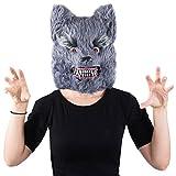 Tigerdoe Wolf Mask - Scary Mask - Halloween Mask - Werewolf Mask - Big Bad Wolf Costume - Spooky Masks