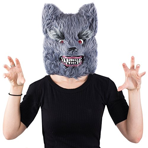 Tigerdoe Wolf Mask - Scary Mask - Halloween Mask - Werewolf Mask - Big Bad Wolf Costume - Spooky Masks -