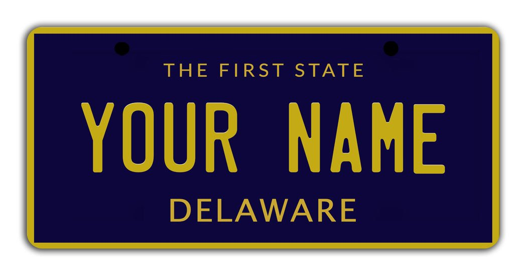 BleuReign Personalize Your Own Delaware State Bicycle Bike Stroller Children's Toy Car 3''x6'' License Plate Tag