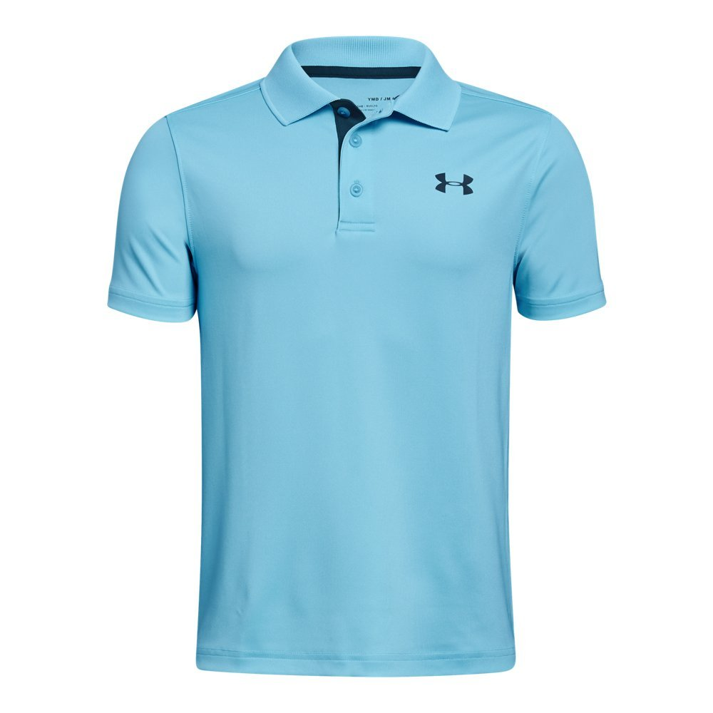Under Armour Boys' Match Play Polo Shirt, Venetian Blue (448)/Techno Teal, Youth Small