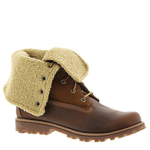 28d7f57265b47 Timberland Authentics 6-Inch Shearling Fold Down Waterproof Boot  (Toddler/Little Kid/Big Kid),Brown,3.5 M US Big Kid - Buy Online in Oman.