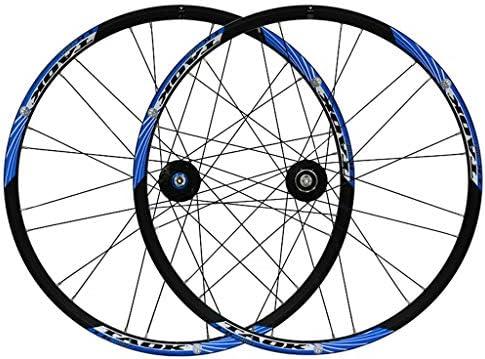 """GXFWJD MTB ホイール26"""" 自転車ホイールセット ダブルウォールアロイリム ディスクブレーキ 7-11速度 ペイリンベアリングハブ クイックリリース 24H 4色"""