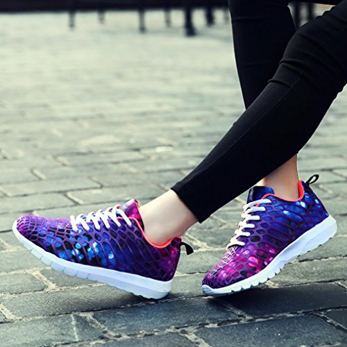 Casual Sneakers Running Bovake Unisex Men Fitness Lightweight Sports Gym Shoes Shoes Purple Jogging Trainers Running Sneakers Women Couples Breathable Shoes Casual Camouflage dwwqAZ8