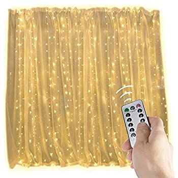 Amazon addlon string lights curtain 300 led icicle wall lights string lights window curtain300 led icicle fairy twinkle starry lights ul listed for indoor and outdoor wedding christmas home bedroom wall decoration aloadofball Choice Image