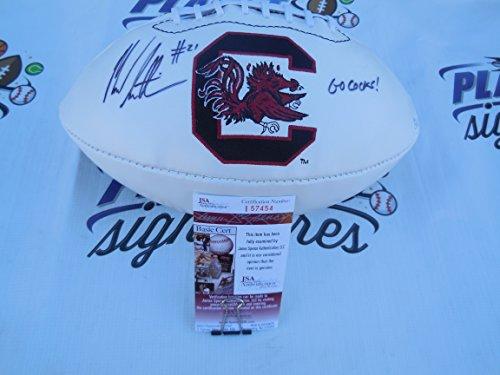 Marcus Lattimore signed South Carolina USC Gamecocks logo football w/ Go Cocks JSA COA (Usc Football Gamecock)