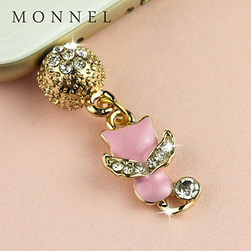 ip693B Cute Little Pink Cat Kitten Crown Anti Dust Charm Plug fit for iPhone7/6 - Cell Phone Crown Charms