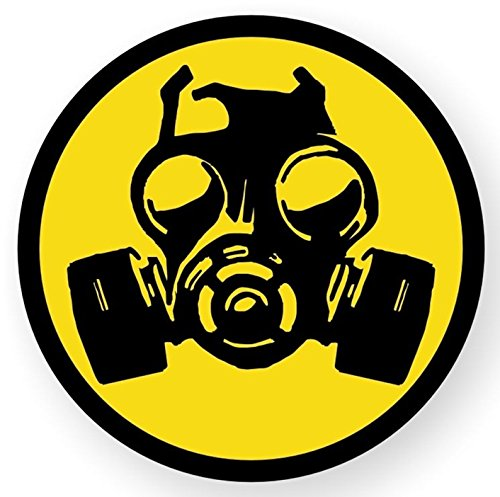 1-Pc First-Rate Unique Gas Mask Symbol Zombie Car Stickers Window Permit Hard Hat Laptop Decal Patches Graphics Decals Art Wall Funny Infectious Disease Vinyl Sticker Size 2