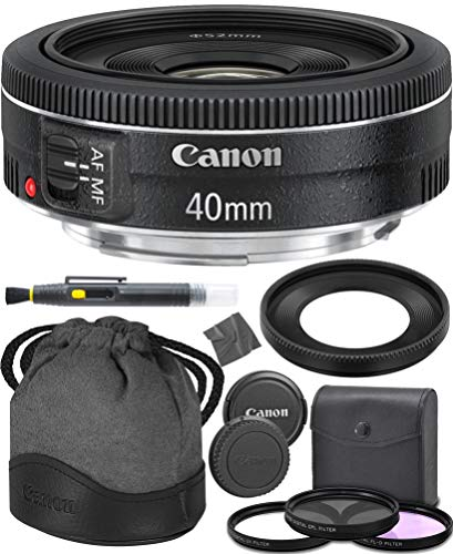 Canon EF 40mm f/2.8 STM: (6310B002) Lens + AOM Pro Starter Kit Bundle - International Version (1 Year AOM Warranty)