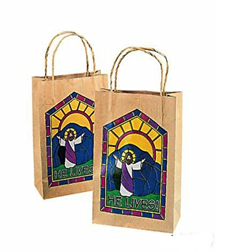 He Lives Inspirational Gift Bags - 12 bags