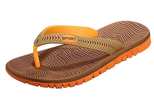 Minetom Herren Surf- und Badeschuhe Flip-Flops Hawaii Wasserschuhe Neoprenschuhe Mode Zehentrenner EU Größe Orange