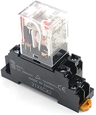 Uxcell a15011200ux0375 Coil 8-Pin DPDT DIN Rail Electromagnetic Power Relay with DYF08A Socket AC 220V//240V