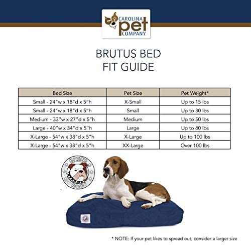 Amazon Com Carolina Pet Red Brutus Tuff Napper Dog Bed M Kitchen Dining