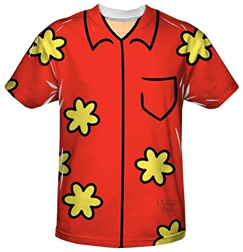 Family Guy Quagmire Costumes Tshirt (Youth: Family Guy - Quagmire Costume Tee Kids T-Shirt Size YL)