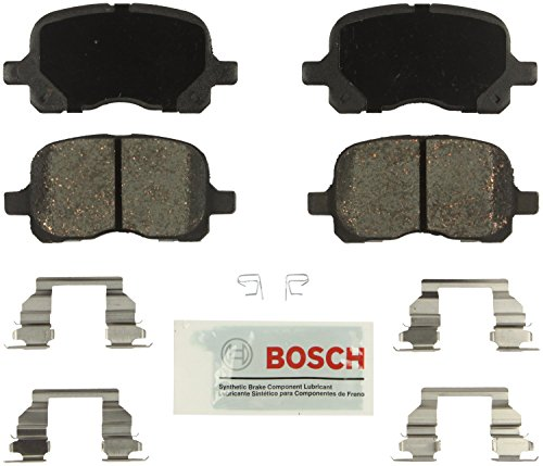 Bosch BE741H Blue Disc Brake Pad Set with Hardware For: Chevrolet Prizm; Toyota Corolla, Front