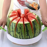 Watermelon Slicer 15'' Large Stainless Steel Fruit Melon Slicer Cutter Peeler Corer Server for Home -Bonus Orange Peeler