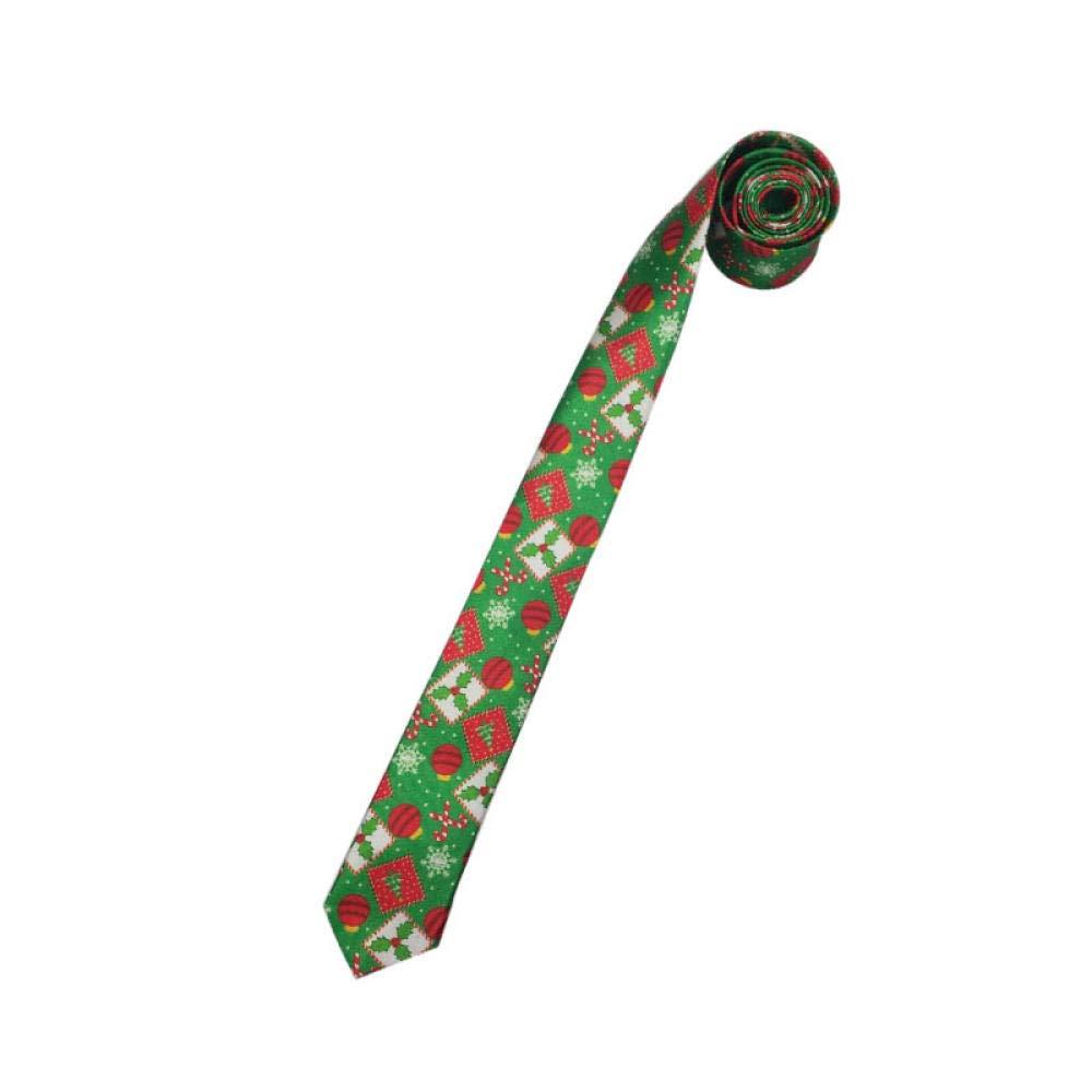GLMXJJ Rayas Corbata Corbatas Lucky Leaf Dibujos Animados Navidad ...