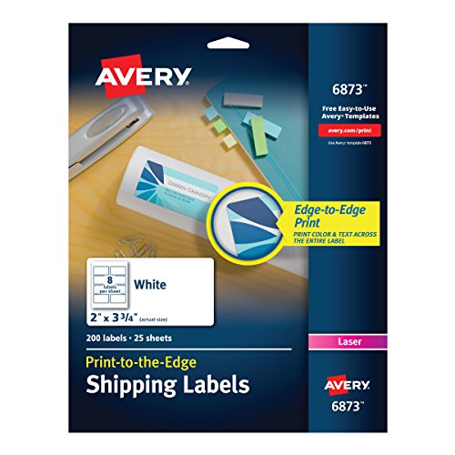 Avery Print-To-The-Edge Labels for Laser Printers, 2 x 3.75 Inches,  200 Labels per Pack  (Avery Copier Address Label)