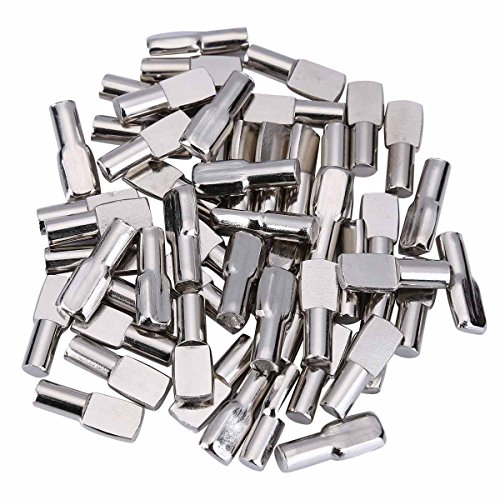 - 120 Packs Shelf Pins, 5mm Shelf Support Pegs Spoon Shape Cabinet Furniture