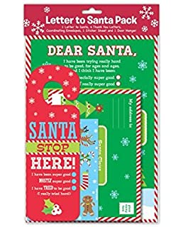 Amazon letter to santa kit new for christmas 2017 with a christmas letter to dear santa claus kit including thank yous envelopes stickers spiritdancerdesigns Image collections