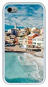 iPhone 4S/4 Case Cover - The Cinque Terre View Stylish Custom Design iPhone 4s/4 Case and Cover - TPU - White