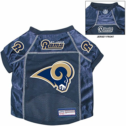 St. Louis Rams Pet Dog Football Jersey Alternate MEDIUM - St Louis Rams Football Jersey