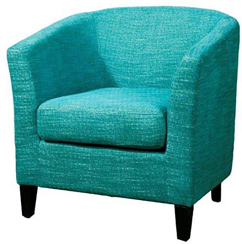 New Pacific Direct Sheri Fabric Tub Chair,Black Legs,Topaz ()