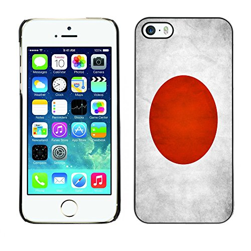 Omega Case PC Polycarbonate Cas Coque Drapeau - Apple iPhone 5 / 5S ( Japan Grunge Flag )