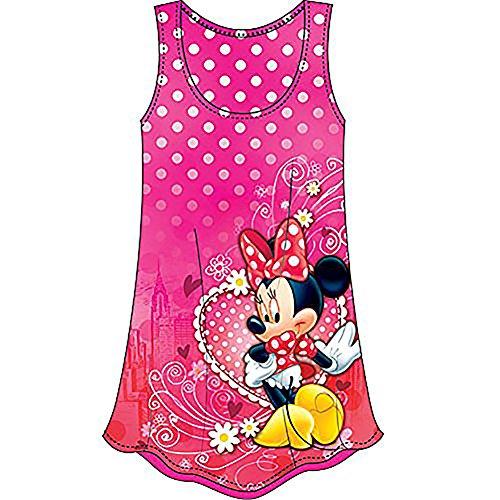 Pink And White Polka Dot Toddler Dress (Disney Minnie Mouse in Manhattan Girls Polka Dot & Floral Print Dress - Pink White)