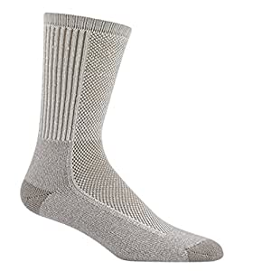 Wigwam Men's Cool-Lite Hiker Pro Crew Socks,Large,Khaki Brown.Khaki